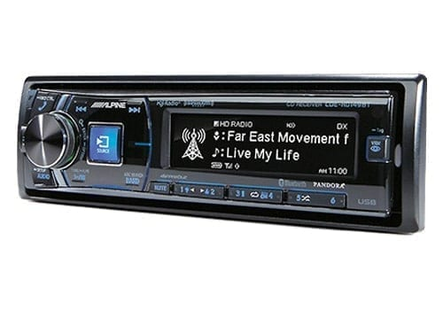 Alpine CDE-HD14BT angle view of screen
