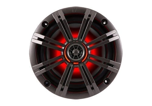 Kicker KM654LCW front view red lit