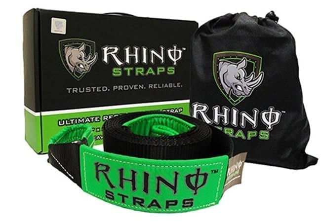 RhinoUSA Recovery Straps Main image with box, bag and strap