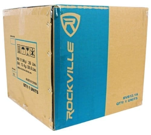 "Rockville RVB12.1A 12"" 500W Active Powered Car Subwoofer+Sub Enclosure Box"