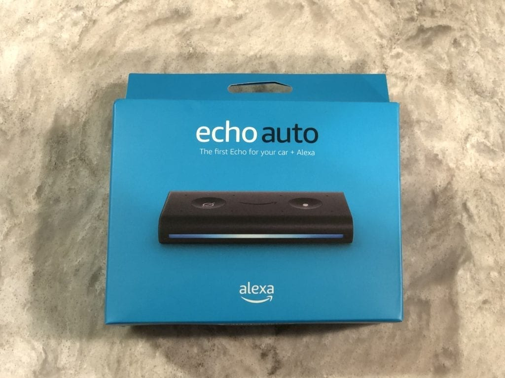 Echo Auto in package before opening